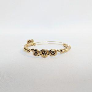 Alex and Ani Gold 3 Flower Power Bracelet